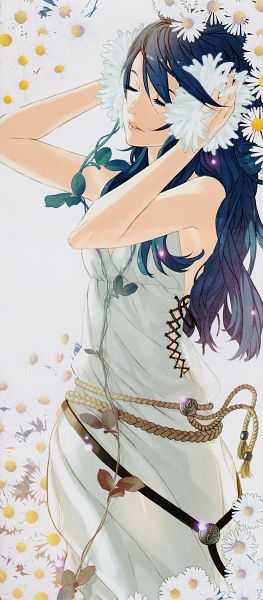 Tags: Anime, Kozaki Yuusuke, Fire Emblem: Kakusei, Lucina (Fire Emblem), Peaceful, Daisy (Flower), Scan, Official Art
