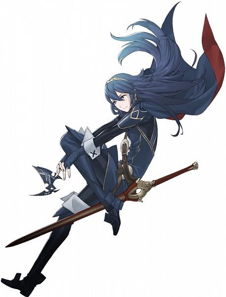 Tags: Anime, Kozaki Yuusuke, Fire Emblem: Kakusei, Lucina (Fire Emblem), Blue Cape, Holding Mask, Cover Image, Official Art