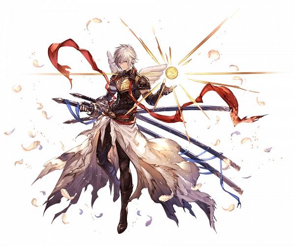 Tags: Anime, Minaba Hideo, Cygames, Granblue Fantasy, Lucio (Granblue Fantasy), Official Art, Cover Image, PNG Conversion