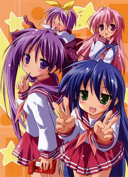 Tags: Anime, Komatsu Eji, Lucky☆Star, Takara Miyuki, Hiiragi Tsukasa, Hiiragi Kagami, Izumi Konata, Scan, Hiiragi Twins