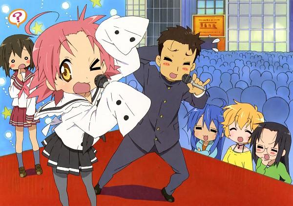 Tags: Anime, Kyoto Animation, Lucky☆Star, Kogami Akira, Patricia Martin, Izumi Konata, Kusakabe Misao (Lucky Star), Tamura Hiyori, Shiraishi Minoru, Crowd, Audience, O O, Official Art