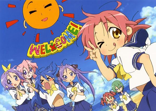 Tags: Anime, Kyoto Animation, Lucky☆Star, Kogami Akira, Hiiragi Tsukasa, Iwasaki Minami, Hiiragi Kagami, Kobayakawa Yutaka, Izumi Konata, Takara Miyuki, Official Art