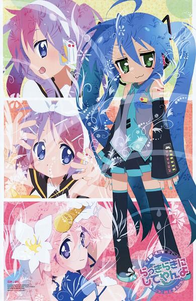 Tags: Anime, Horiguchi Yukiko, Lucky☆Star, Hiiragi Tsukasa, Hiiragi Kagami, Izumi Konata, Takara Miyuki, Kagamine Rin (Cosplay), Kagamine Len (Cosplay), Megurine Luka (Cosplay), Mobile Wallpaper