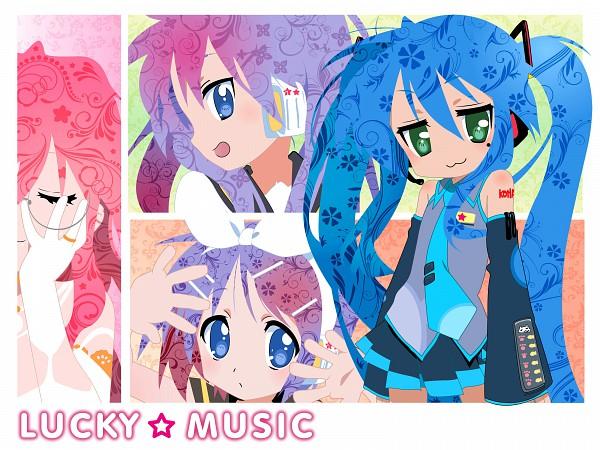 Tags: Anime, Lucky☆Star, Hiiragi Tsukasa, Hiiragi Kagami, Izumi Konata, Takara Miyuki, Kagamine Len (Cosplay), Megurine Luka (Cosplay), Hatsune Miku (Cosplay), Kagamine Rin (Cosplay), K-ON! Character Design