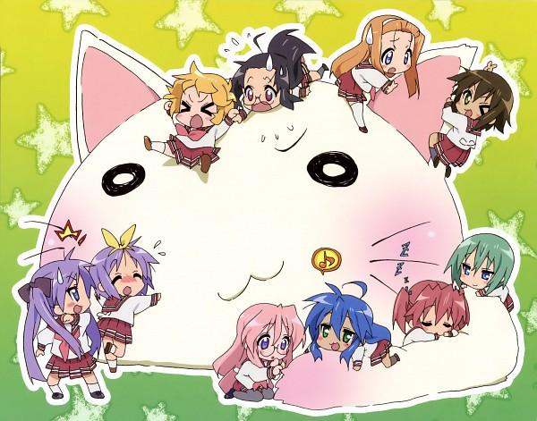Tags: Anime, Kyoto Animation, Lucky☆Star, Minegishi Ayano, Hiiragi Tsukasa, Tamura Hiyori, Hiiragi Kagami, Patricia Martin, Iwasaki Minami, Nyamou, Izumi Konata, Kobayakawa Yutaka, Kusakabe Misao (Lucky Star)