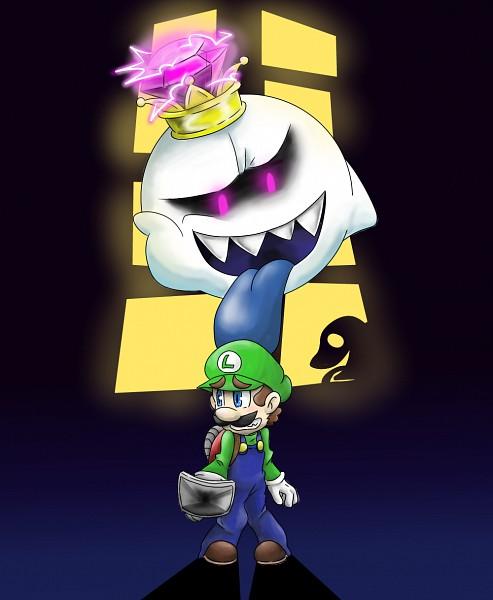 Tags: Anime, Pixiv Id 4213862, Luigi's Mansion, Super Mario Bros., Luigi, King Boo