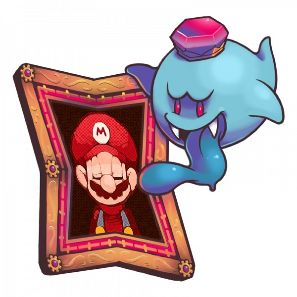 Tags: Anime, Ghost-pepper, Super Mario Bros., Luigi's Mansion, Mario (Character), King Boo, Painting (Object)