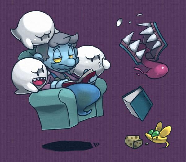 Tags: Anime, Ghost-pepper, Super Mario Bros., Luigi's Mansion, Mario (Character), Boo