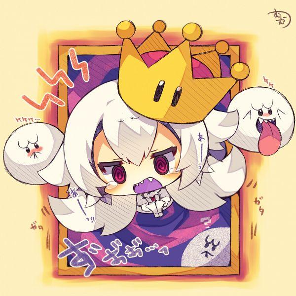 Tags: Anime, Muuran, Super Mario Bros., Luigi's Mansion, Boo, King Teresa Hime, Fan Character, King Boo