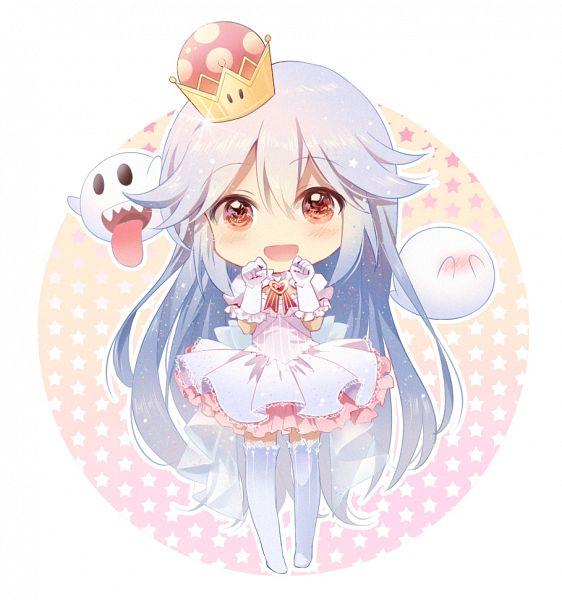 Tags: Anime, Shangguan Feiying, Super Mario Bros., Luigi's Mansion, King Boo, Fan Character, King Teresa Hime, Fanart From Pixiv, Pixiv, Fanart