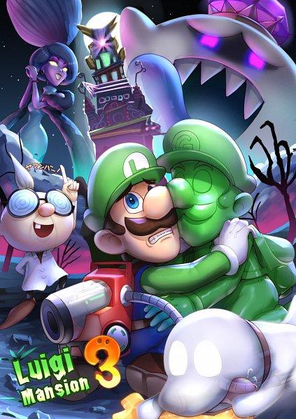 Tags: Anime, Gonzarez, Super Mario Bros., Luigi's Mansion, Gooigi, King Boo, Polterpup, Hellen Gravely, Luigi, Professor Oyama, Vacuum