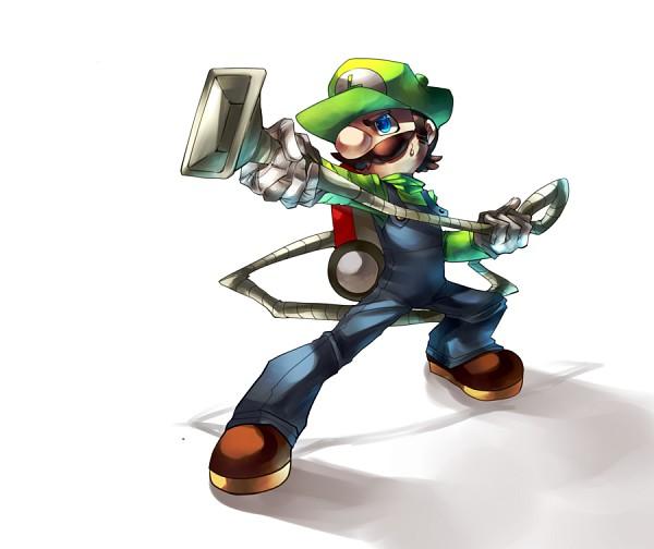 Tags: Anime, Nyaph (Artist), Luigi's Mansion, Super Mario Bros., Luigi, Vacuum