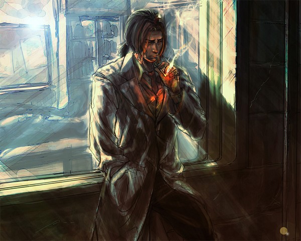 Tags: Anime, Resident Evil 4, Resident Evil, Luis Sera, Detective, Thinking, Artist Request