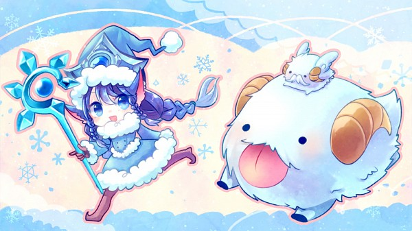 Tags: Anime, Mizoreame, League of Legends, Lulu (League of Legends), Poro (League of Legends), Alternate Skin Color, Fanart, Pixiv