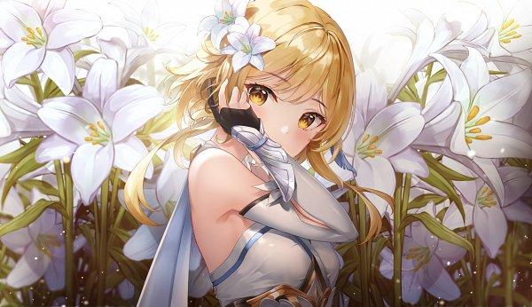 Tags: Anime, Lunacle, Genshin Impact, Lumine (Genshin Impact), Fanart, Fanart From Pixiv, Pixiv