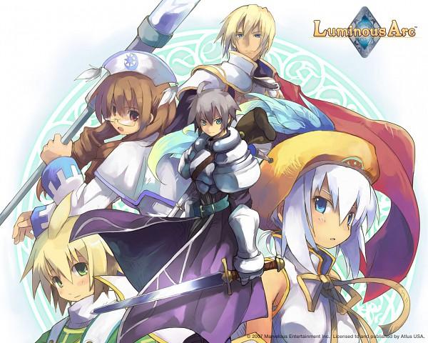 Tags: Anime, Luminous Arc, Theo (Luminous Arc), Cecille (Luminous Arc), Lucia (Luminous Arc), Alph (Luminous Arc), Heath (Luminous Arc), Wallpaper
