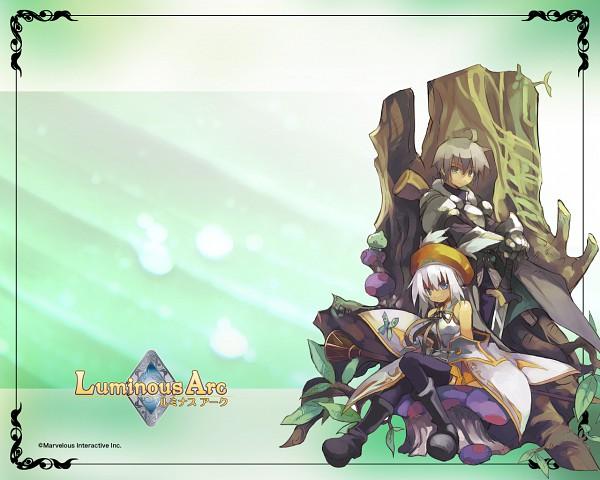 Tags: Anime, Luminous Arc, Lucia (Luminous Arc), Alph (Luminous Arc), Wallpaper