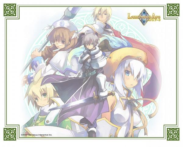 Tags: Anime, Luminous Arc, Cecille (Luminous Arc), Lucia (Luminous Arc), Alph (Luminous Arc), Heath (Luminous Arc), Theo (Luminous Arc), Wallpaper
