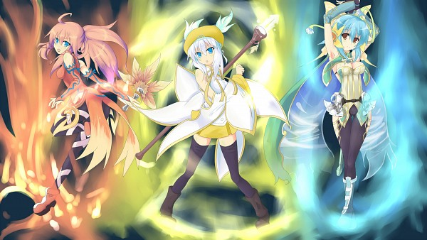 Tags: Anime, Luminous Arc, Althea, Eruru (Luminous Arc), Lucia (Luminous Arc), Artist Request, HD Wallpaper, Wallpaper