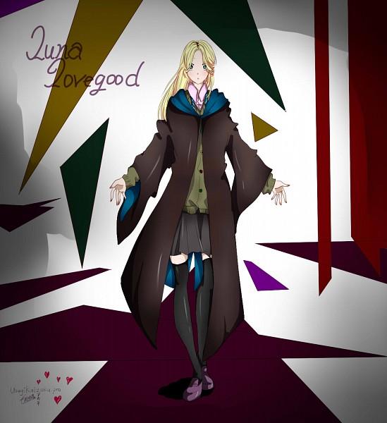 Tags: Anime, Harry Potter, Luna Lovegood, Palm Up, Wide Eyes, Ravenclaw House