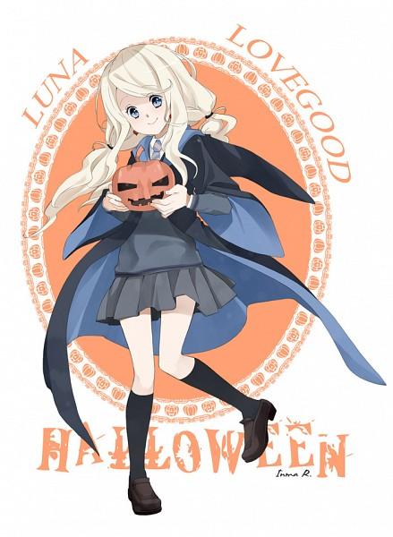 Tags: Anime, Inma R., Harry Potter, Luna Lovegood, Text: Halloween, Gray Skirt, deviantART, Ravenclaw House