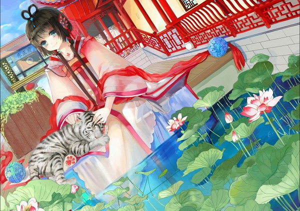 Tags: Anime, Object Spring, VOCALOID, Luo Tianyi, White Tiger, Pixiv