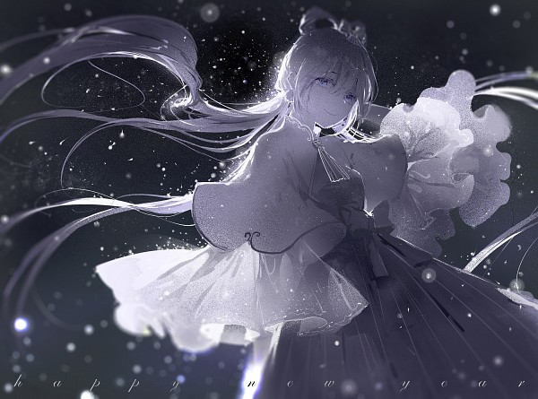 Tags: Anime, Pixiv Id 2225028, VOCALOID, Luo Tianyi, Gray, Gray Bow, Gray Outfit, Pixiv, Fanart From Pixiv, Fanart, Happy 2016
