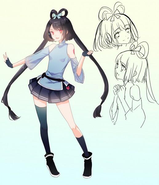 Tags: Anime, Ayumi (Xiwu), VOCALOID, Luo Tianyi, Character Sheet, Fanart, Pixiv