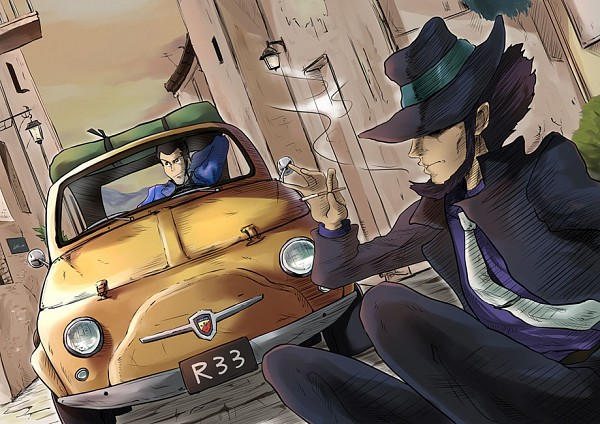 Tags: Anime, Pixiv Id 7775415, Lupin III, Jigen Daisuke, Arsene Lupin III, Pixiv, Fanart From Pixiv, Fanart