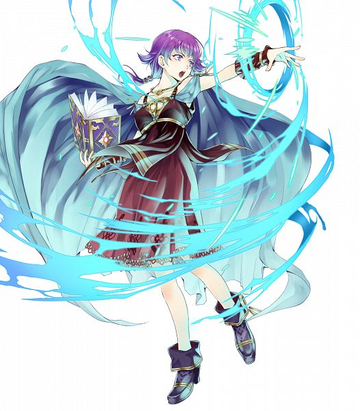 Tags: Anime, Seo Kouji, Intelligent Systems, Fire Emblem Heroes, Lute (Fire Emblem), Spellbook, Official Art