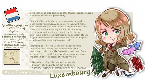 Tags: Anime, Fir3h34rt, Axis Powers: Hetalia, Fan Character, Luxembourg, Map, Facebook Cover