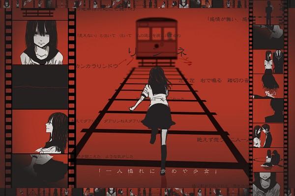 Tags: Anime, Pixiv Id 409336, VOCALOID, Fan Character, Railroad Tracks, 1200x800 Wallpaper, Pixiv, Wallpaper, Lynne, Fanart