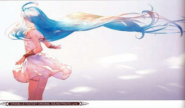 Tags: Anime, Minaba Hideo, Cygames, Granblue Fantasy, Lyria (Granblue Fantasy), Facebook Cover, Official Art, Self Scanned, Scan
