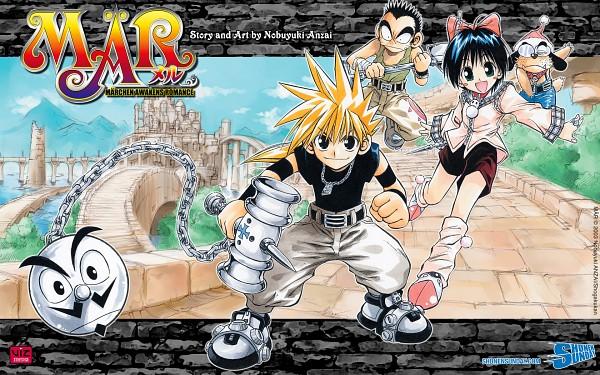 Tags: Anime, MÄR, Snow (MÄR), Ginta Toramizu, Jack (MÄR), 1680x1050 Wallpaper, Hammer (Tool), Wallpaper, Official Art