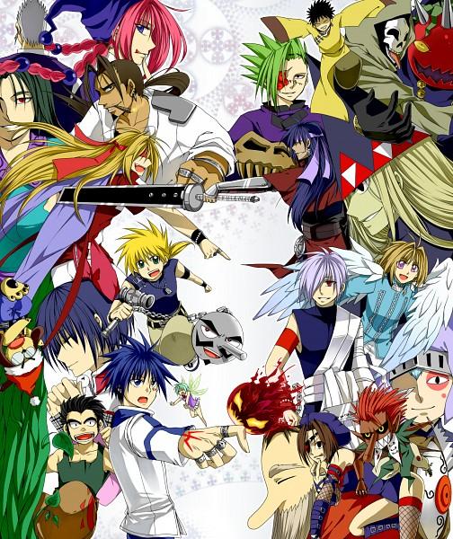 Tags: Anime, MÄR, Dorothy (MÄR), Alan (MÄR), Belle (MÄR), Magical Roe, Phantom (MÄR), Nanashi (MÄR), Halloween (MÄR), Alviss, Galian, Kouga (MÄR), Snow (MÄR)