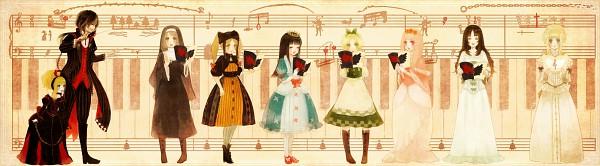 Tags: Anime, YuJuP, Buran-ko, Elisabeth von Wettin, Elise (Sound Horizon), März von Ludowing, Schneewittchen, Märchen von Friedhof, Piano Keys, Sheet Music, Märchen, Pixiv, Sound Horizon
