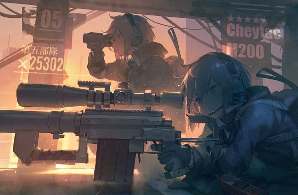 Tags: Anime, Pixiv Id 31430204, Girls Frontline, M200 (Girls Frontline), Binoculars, Sniper Rifle, Pixiv, Fanart, Fanart From Pixiv