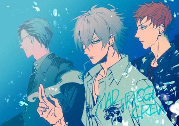 Tags: Anime, Pixiv Id 136678, Hypnosis Mic -Division Rap Battle-, Busujima Mason Riou, Aohitsugi Samatoki, Iruma Jyuto, Fanart From Pixiv, Pixiv, Fanart, MAD TRIGGER CREW