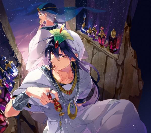 Tags: Anime, Shiho (COLOR PALETTE), Matsuo Shin, MAGI: The Labyrinth of Magic, Ja'far, Sinbad, Turban, Agal, Pixiv, Fanart From Pixiv, Fanart, The Labyrinth Of Magic Magi