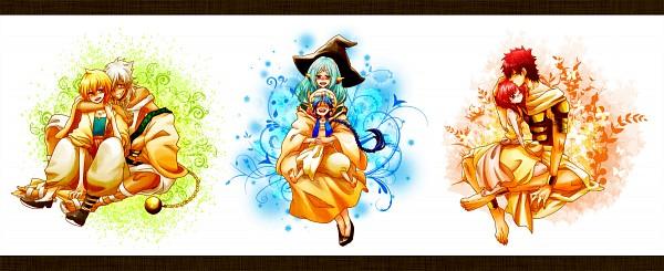 Tags: Anime, Pixiv Id 1447351, MAGI: The Labyrinth of Magic, Aladdin (Magi), Sharrkan, Masrur, Morgiana, Yamuraiha, Ali Baba Saluja, Facebook Cover, Fanart From Pixiv, Pixiv, Fanart, The Labyrinth Of Magic Magi