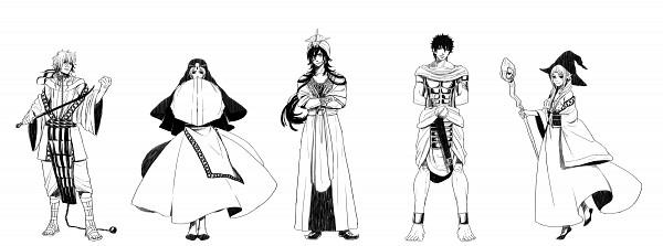 Tags: Anime, Pixiv Id 3412186, MAGI: The Labyrinth of Magic, Yamuraiha, Sharrkan, Masrur, Sinbad, Ja'far, Fanart From Pixiv, Facebook Cover, Pixiv, Fanart, Eight Generals, The Labyrinth Of Magic Magi