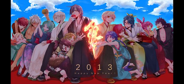 Tags: Anime, Himeno (Pixiv4404324), MAGI: The Labyrinth of Magic, Sinbad, Yamuraiha, Morgiana, Olba, Judar, Sharrkan, Birgit, Ja'far, Ren Hakuryuu, Ali Baba Saluja, The Labyrinth Of Magic Magi