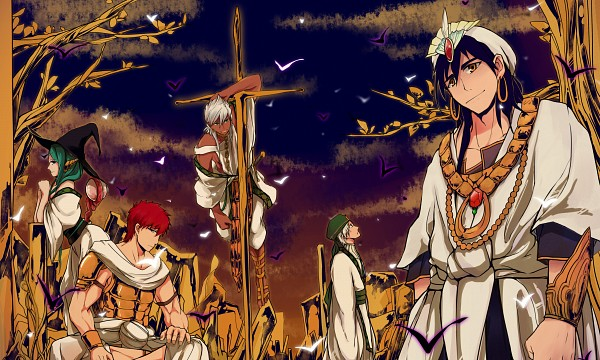 Tags: Anime, Pixiv Id 1280531, MAGI: The Labyrinth of Magic, Masrur, Sinbad, Ja'far, Yamuraiha, Sharrkan, Pixiv, Wallpaper, Fanart, Fanart From Pixiv, Eight Generals, The Labyrinth Of Magic Magi