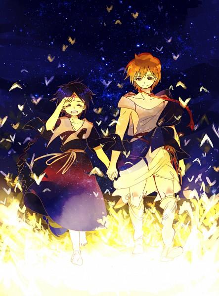 Tags: Anime, Pixiv Id 8688, MAGI: The Labyrinth of Magic, Aladdin (Magi), Ali Baba Saluja, Pixiv, The Labyrinth Of Magic Magi