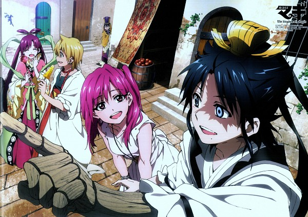 Tags: Anime, A-1 Pictures, MAGI: The Labyrinth of Magic, Ren Hakuryuu, Ka Koubun, Ren Kougyoku, Morgiana, Ali Baba Saluja, Scan, Official Art, Team Zagan, The Labyrinth Of Magic Magi