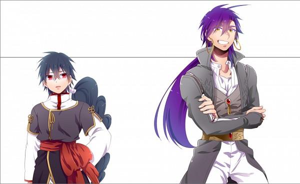 Tags: Anime, Touyoru Tsuduru, MAGI: The Labyrinth of Magic, Sinbad, Judar, Fanart, Fanart From Pixiv, Pixiv, The Labyrinth Of Magic Magi
