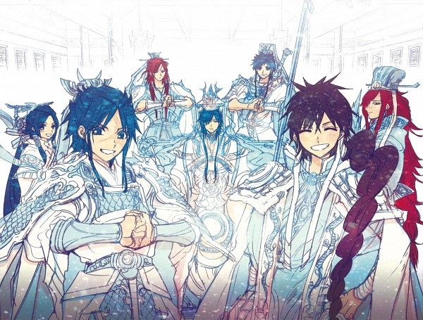 Tags: Anime, Ohtaka Shinobu, MAGI: The Labyrinth of Magic, Judar, Ren Koumei, Ren Hakuei, Ren Hakuren, Ren Hakuryuu, Ren Hakuyuu, Ren Kouen, Official Art, Scan, The Labyrinth Of Magic Magi
