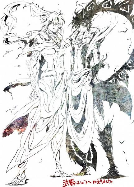 Tags: Anime, Pixiv Id 2200576, MAGI: The Labyrinth of Magic, Ren Hakuryuu, Ali Baba Saluja, Rukh, Djinn Equip, Fanart From Pixiv, Pixiv, Fanart, Mobile Wallpaper, The Labyrinth Of Magic Magi