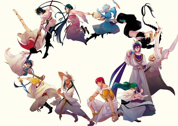 Tags: Anime, Pixiv Id 883680, MAGI: The Labyrinth of Magic, Sharrkan, Ja'far, Ri Seishun, Judar, Ren Hakuryuu, Pisti, Masrur, Ali Baba Saluja, Hinahoho, Sinbad, The Labyrinth Of Magic Magi