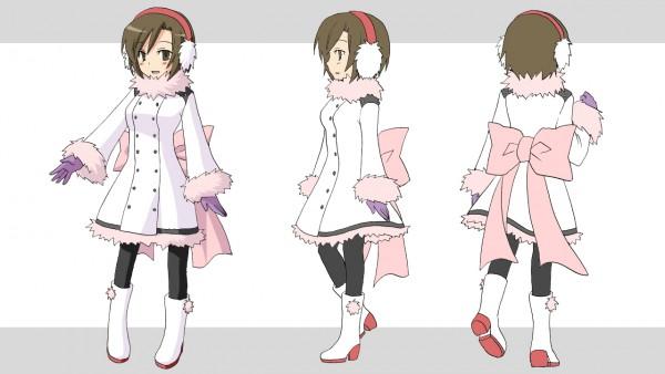 Tags: Anime, Nananana10, VOCALOID, MEIKO (VOCALOID), Purple Gloves, Purple Handwear, Facebook Cover, Character Sheet, Project DIVA Fluffy Coat, Wallpaper